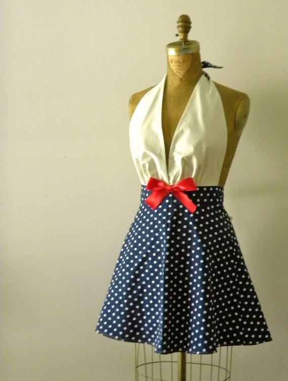 womens retro gidget full apron lemon print sew pinterest sch rze n hen und anziehsachen. Black Bedroom Furniture Sets. Home Design Ideas