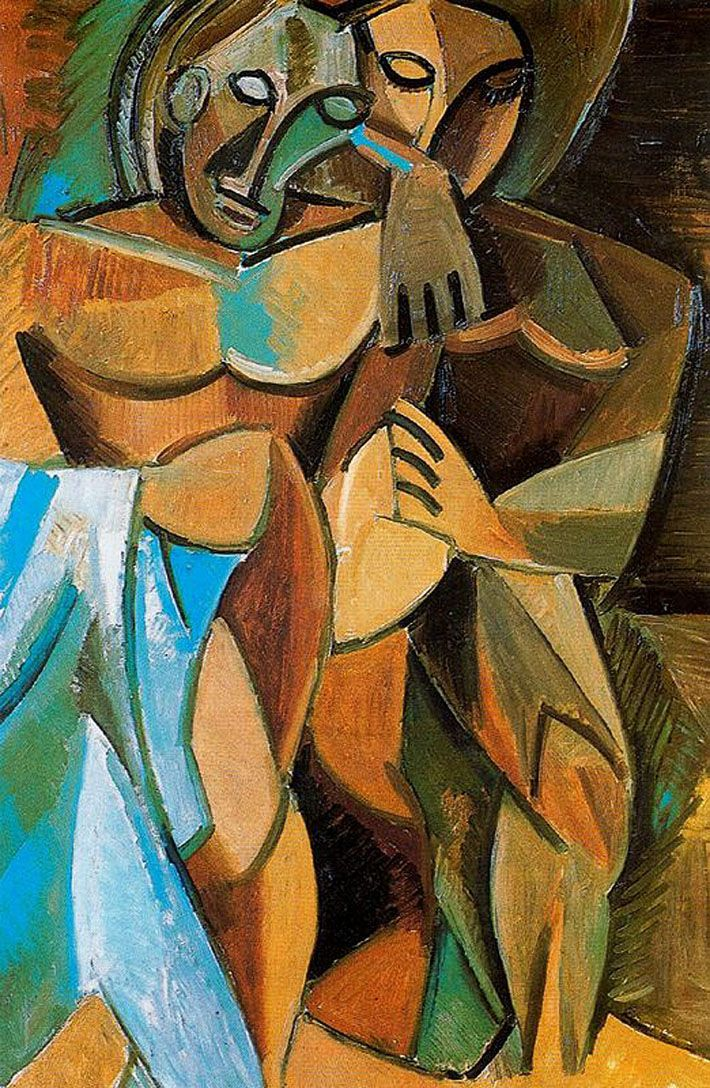 Friendship, 1908 Pablo Picasso - by style - Analytical Cubism