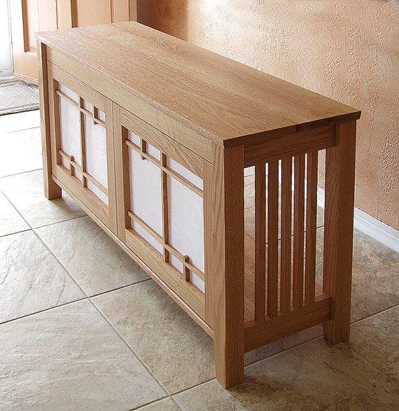 Readybuilt Oak Media Cabinet 47 Length By Timobrienwoodworks 483 00 Craftsman Furniture Woodworking Furniture Wood Furniture