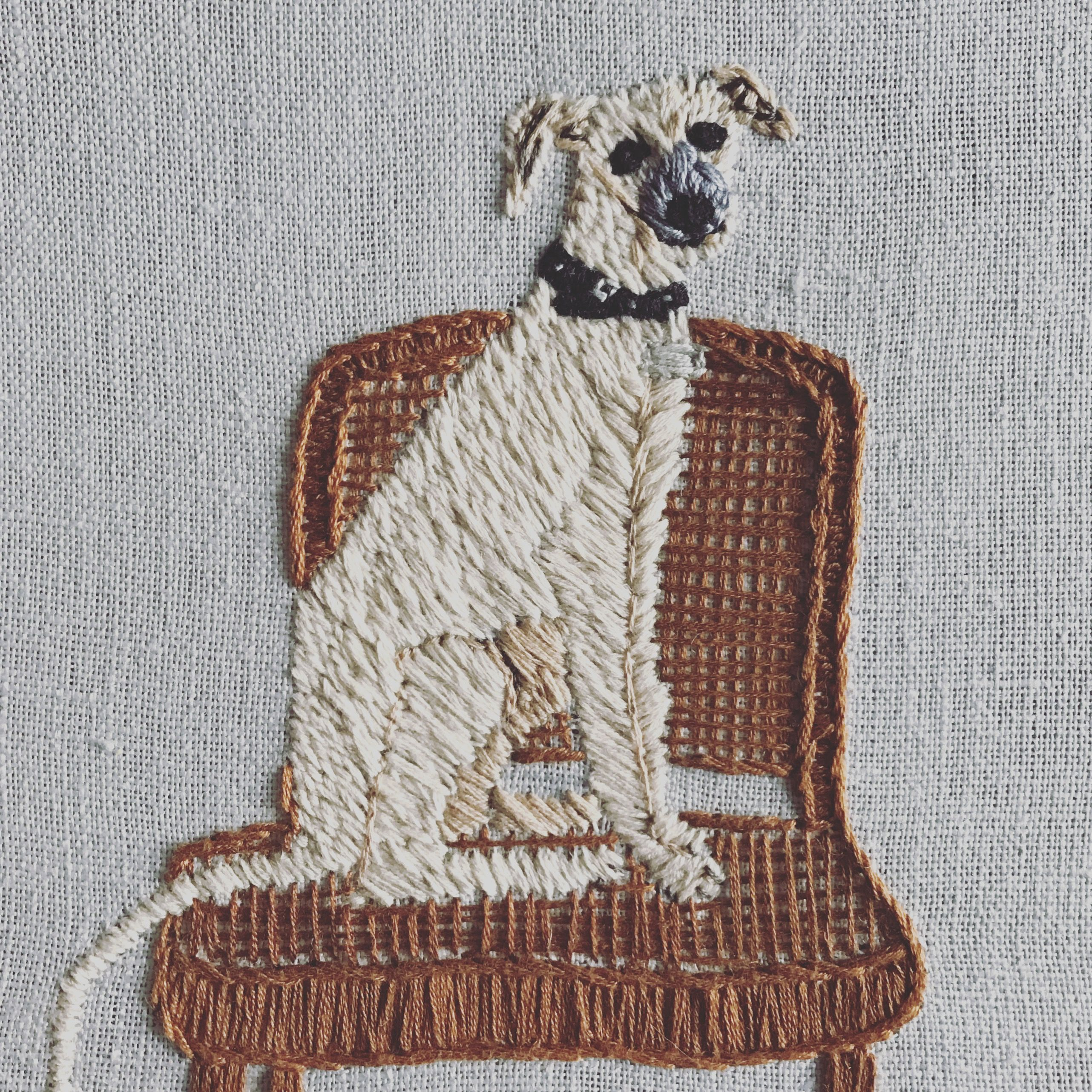Doggy Embroidery By Lulu Stitch Order Yours On Glyntnyc