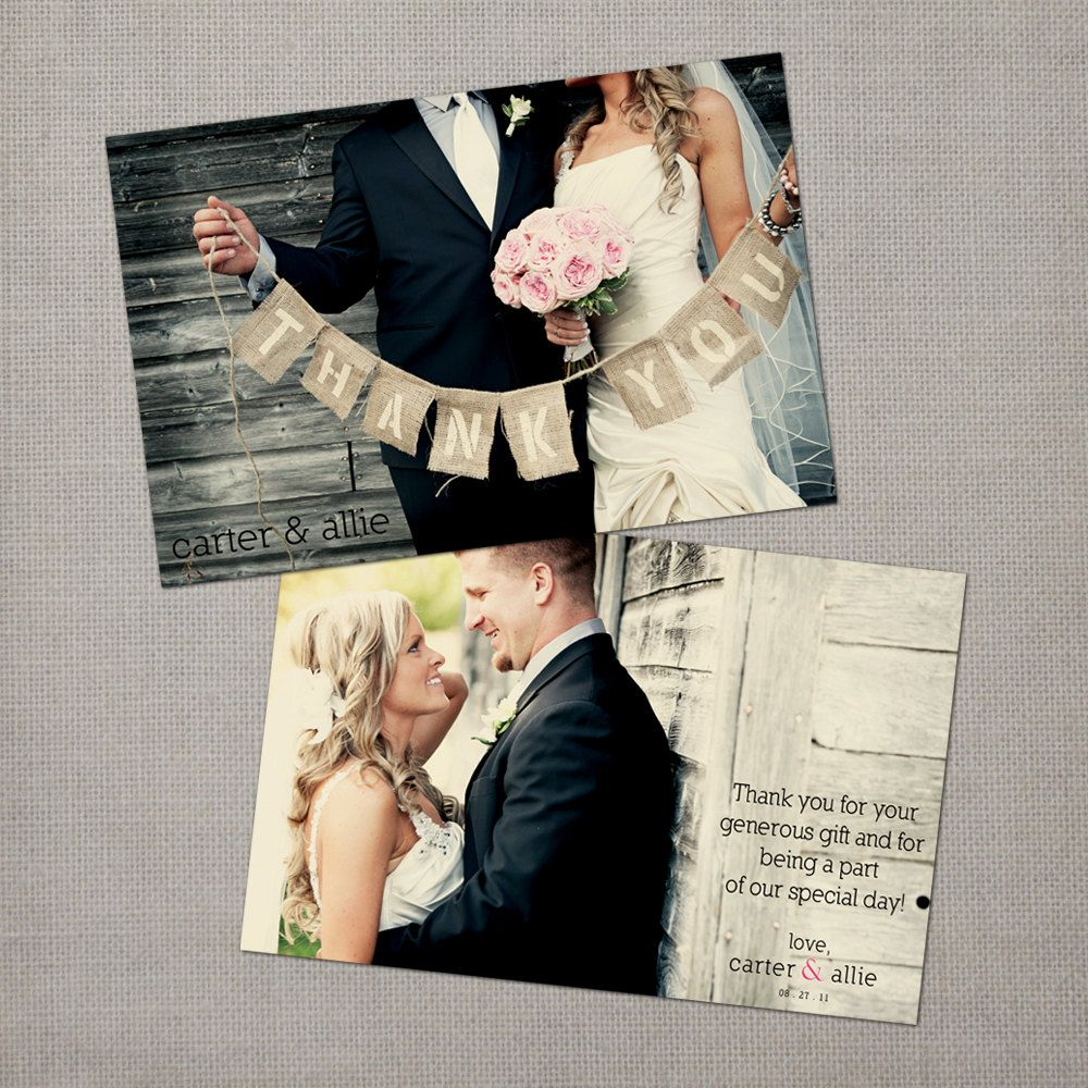 Wedding Thank You Cards I Love The Idea Of Back And Front Photos Would