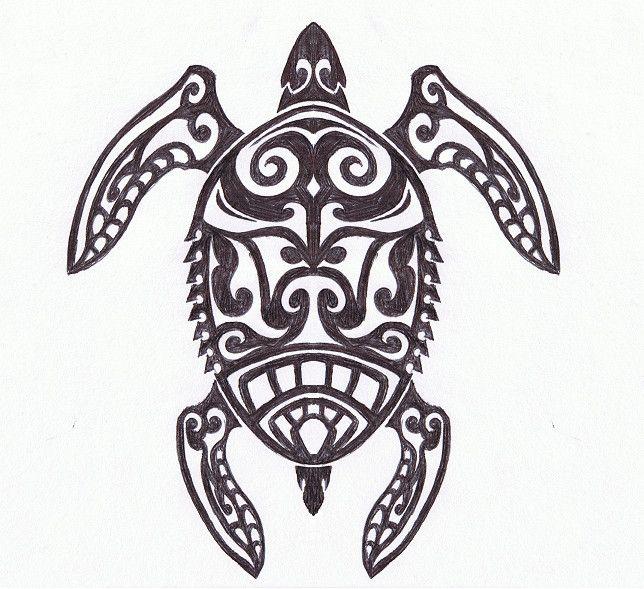 tribal turtle drawings