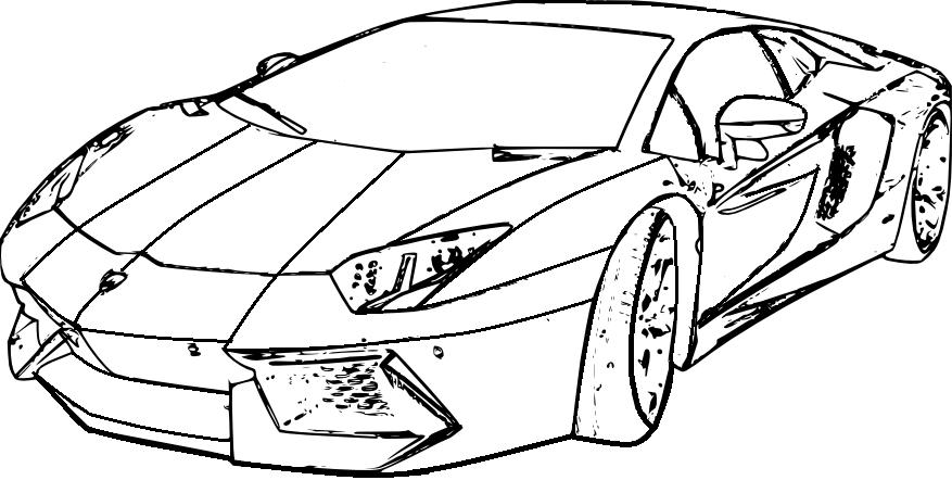 Ausmalbilder Polizei Auto Lamborghini 01 Drawing