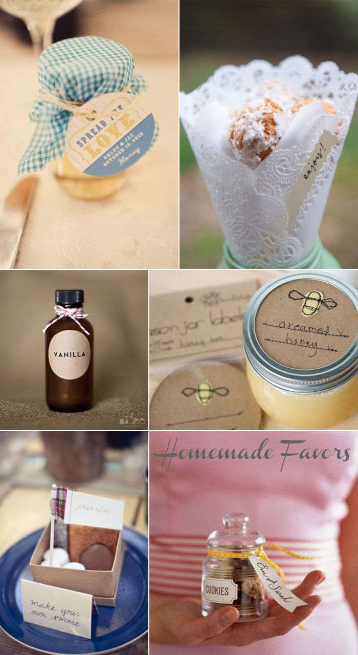 spread the love - nice! Homemade wedding favors