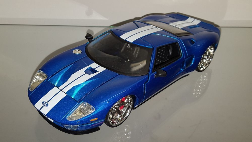 Jada Fast Furious  Ford Gt Blue With White Stripes Q Jada Ford