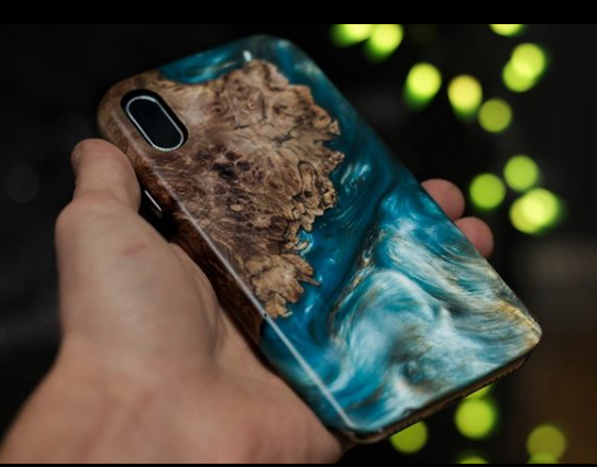 Wood Resin In Perfect Earthly Harmony Satellite Cases