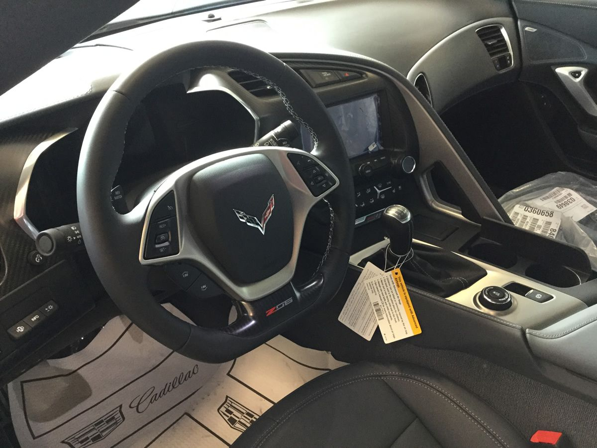 2016 Corvette Z06 With Admiral Blue Metallic Paint Dark Gray Leather Interior 3lz Trim Package Carbon Fiber Roof P Roof Panels Leather Interior Grey Leather