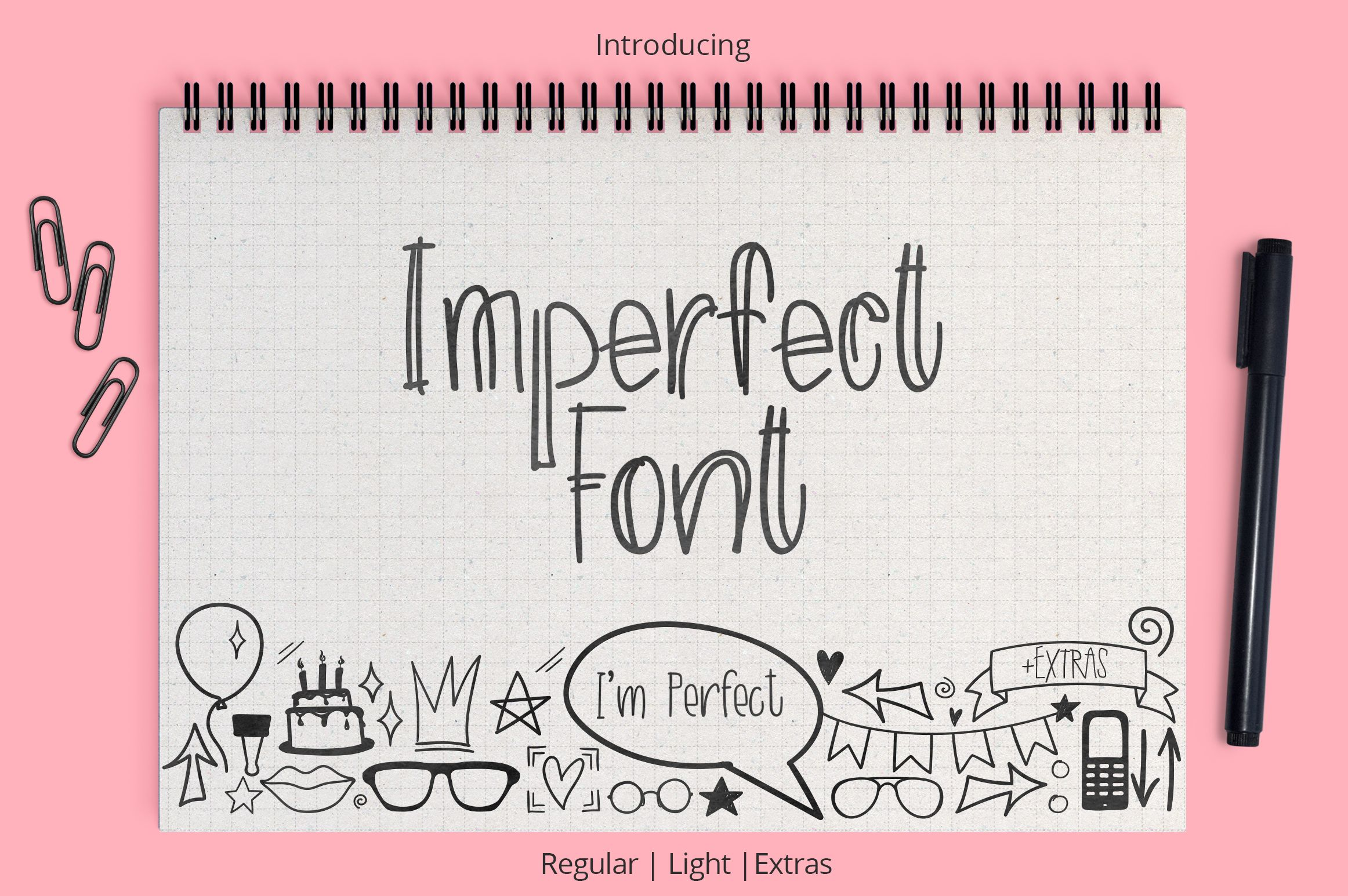Imperfect Font Pixelify Handwritten type, Best free fonts