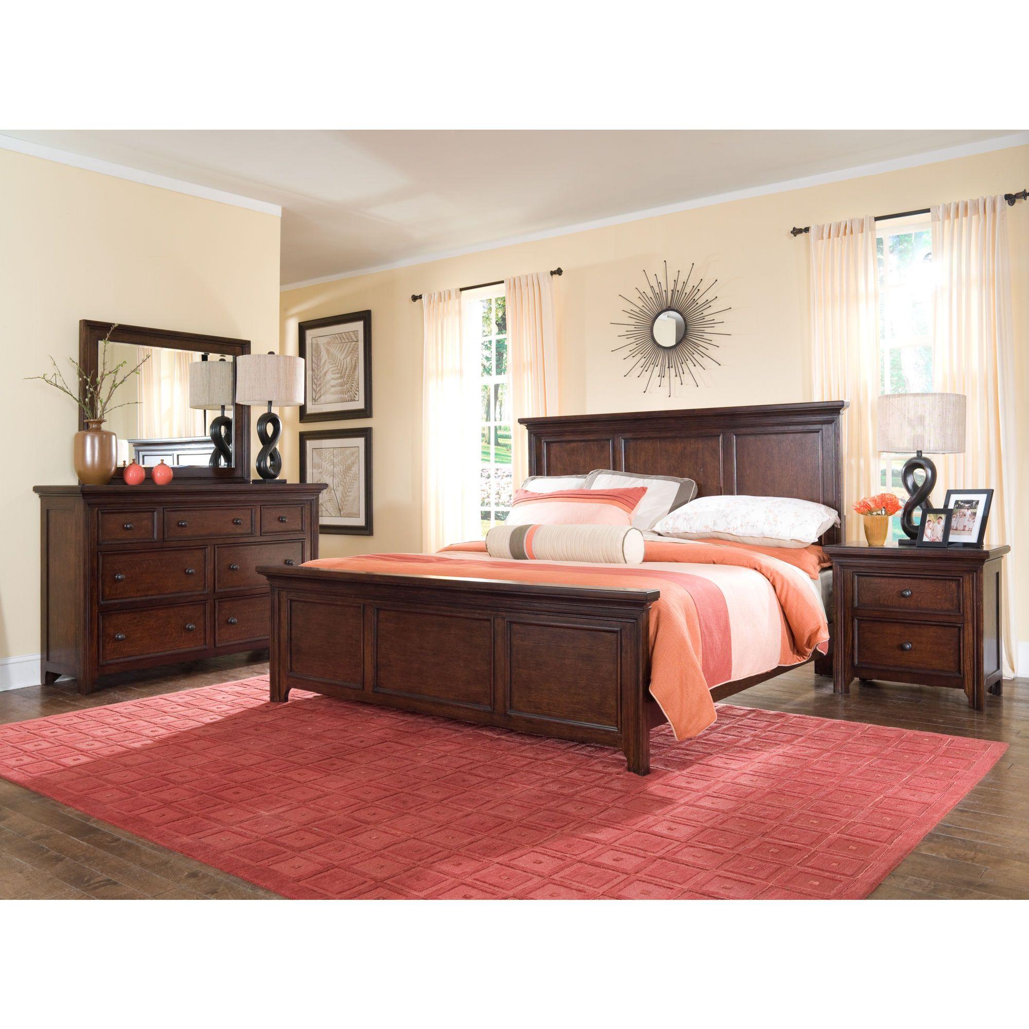 Best Broyhill Abbott Bay Panel Bedroom Set In Warm Brown 4880 400 x 300