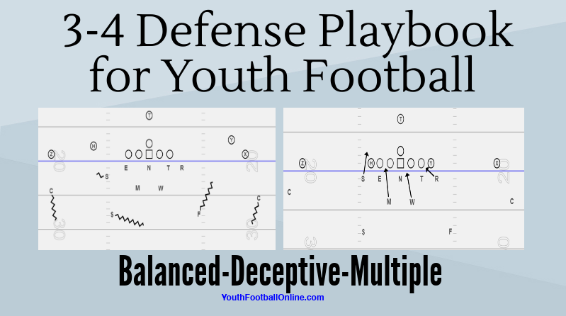 3 4 Defense Playbook For Youth Football Pdf Playbook Youth
