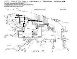 Maison Sur La Cascade Plan Maison Sur La Cascade Frank Lloyd Wright Architecture
