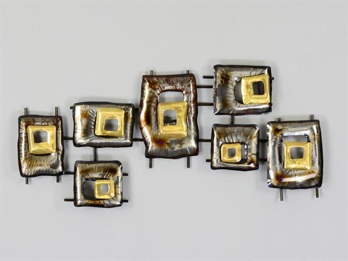 RECHTECKE - Metall Wandbild Wanddeko für Wohnzimmer moderne - wandbild für wohnzimmer