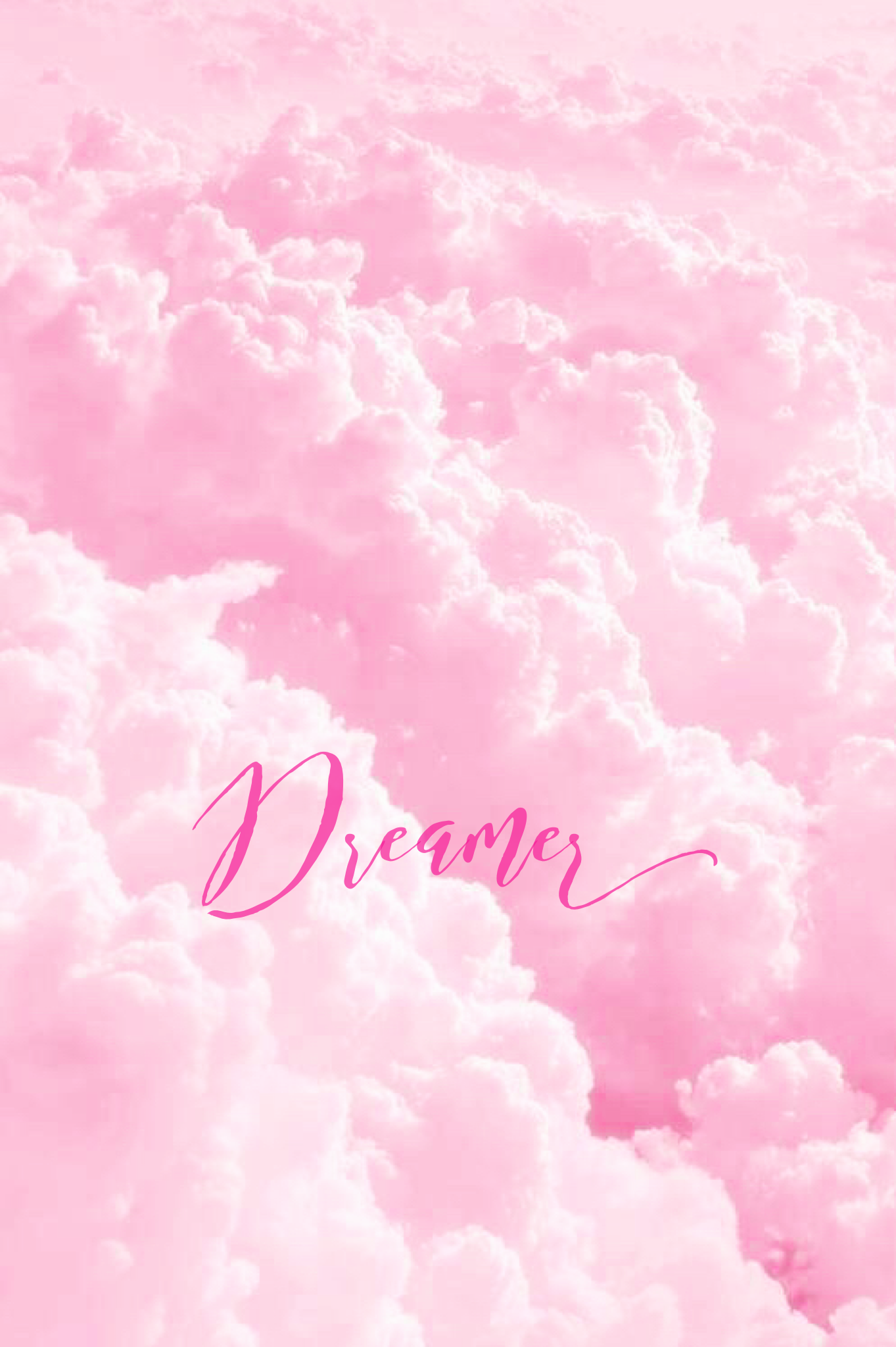 Pink Dreamer iPhone/Mobile Background EvaLand Pastel