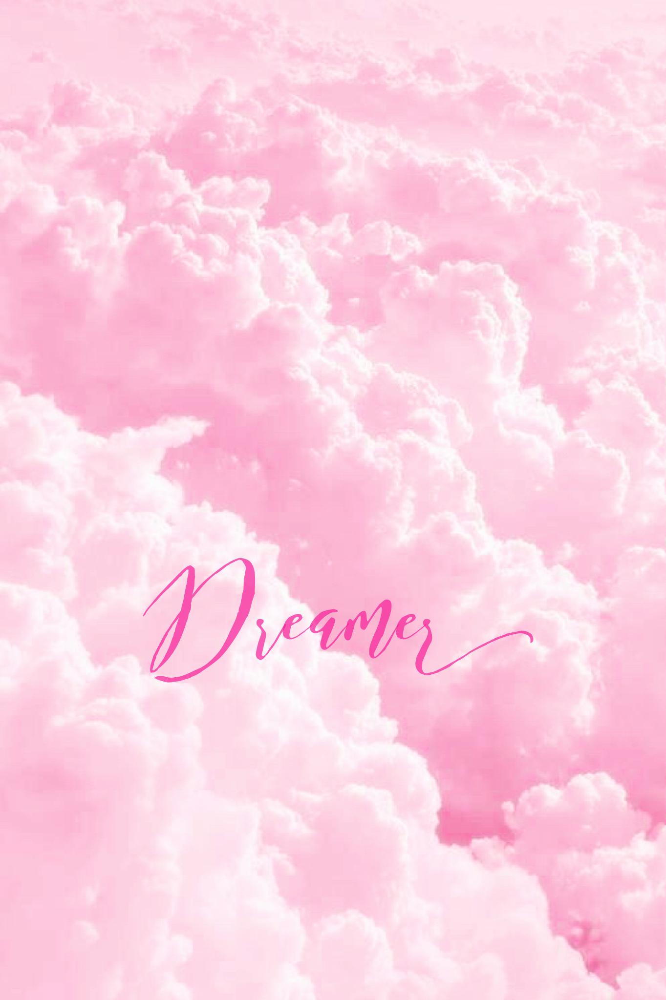 Pink Dreamer iPhone/Mobile Background EvaLand Pastel