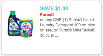 Purex Coupon 1 00 Off Purex Laundry Detergent Coupon
