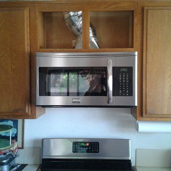 Raised Upper Cabinet 7 Inches To Accommodate Over The Range Microwave Yelp