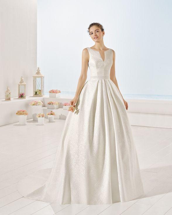 vestido yvette de brocado (luna novias)   ideas   vestidos de novia