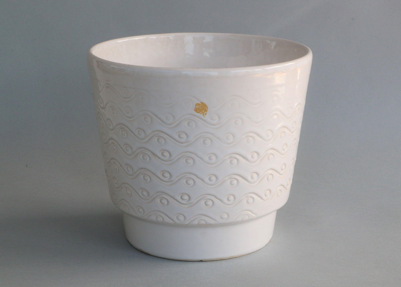 Large White Plant Pot Fohr Indoors Planter West German Pottery Mid Century Modern Vintage 60 S Flower Pot Ceramic White Cactus Pot White Plants West German Pottery Mid Century Flower Pots
