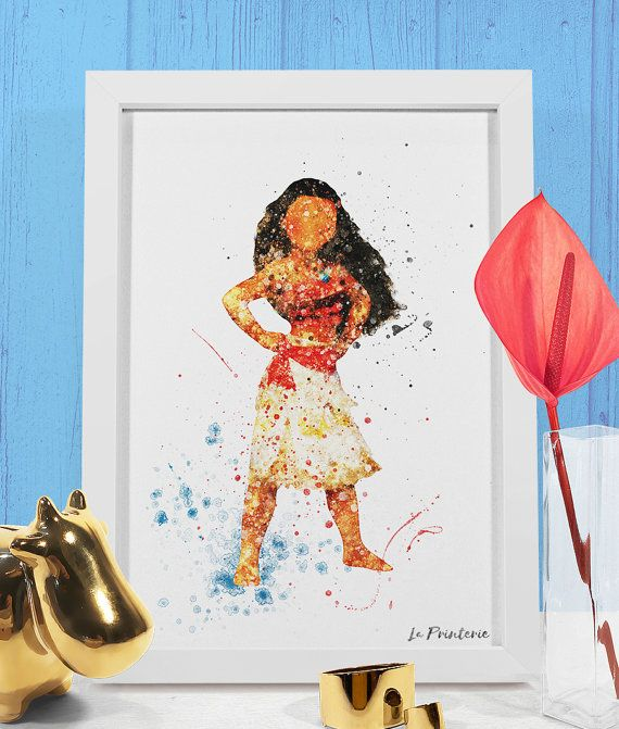 Moana Art Print, Waialiki Disney Princess Moana Birthday ...