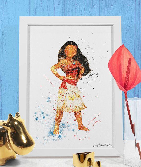 Moana Art Print Waialiki Disney Princess Moana Birthday Party