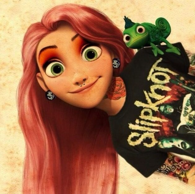 Pastel Pink Haired Rapunzel Tangled Punk Disney Princesses