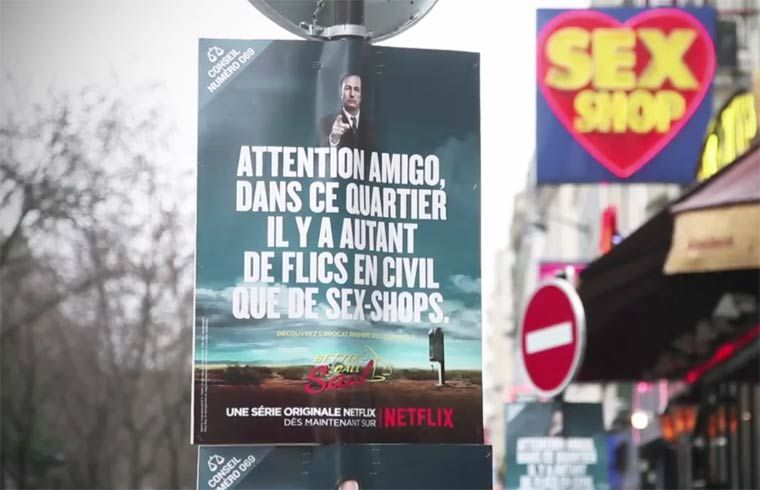 Netflix's Better Call Saul campaign in Pigalle, Paris