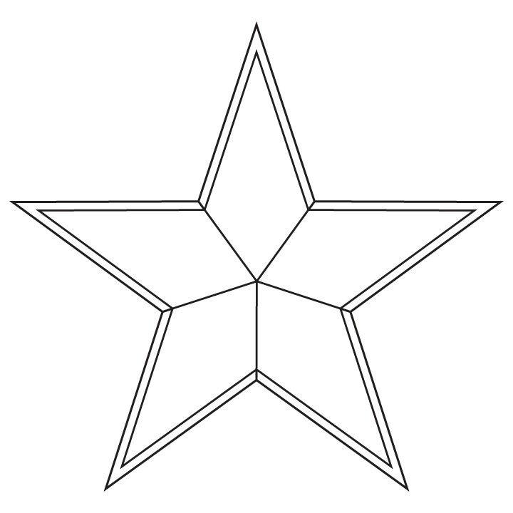 The star design for the centre of my captain america shield   Stuff ...