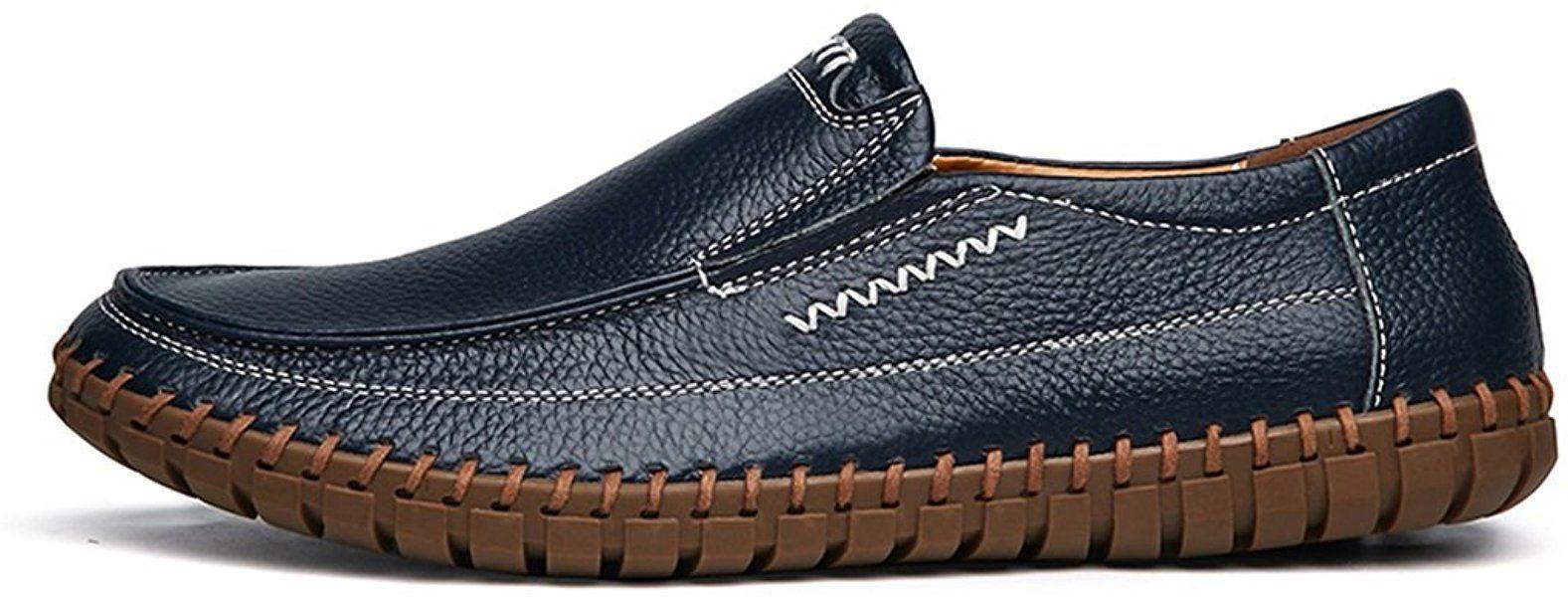 53bf9b2dae1b1 Amazon.com | Handmade Summer Men's Leather Shoes Casual Slip On ...