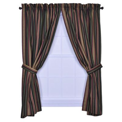 Darby Home Co Quandro Striped Room Darkening Rod Pocket Panel Pair Wayfair In 2020 Panel Curtains Custom Drapes Striped Room