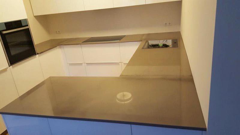 Die Eco Antik Oberflächenbearbeitung einer Granit Arbeitsplatte - küchenarbeitsplatten online bestellen