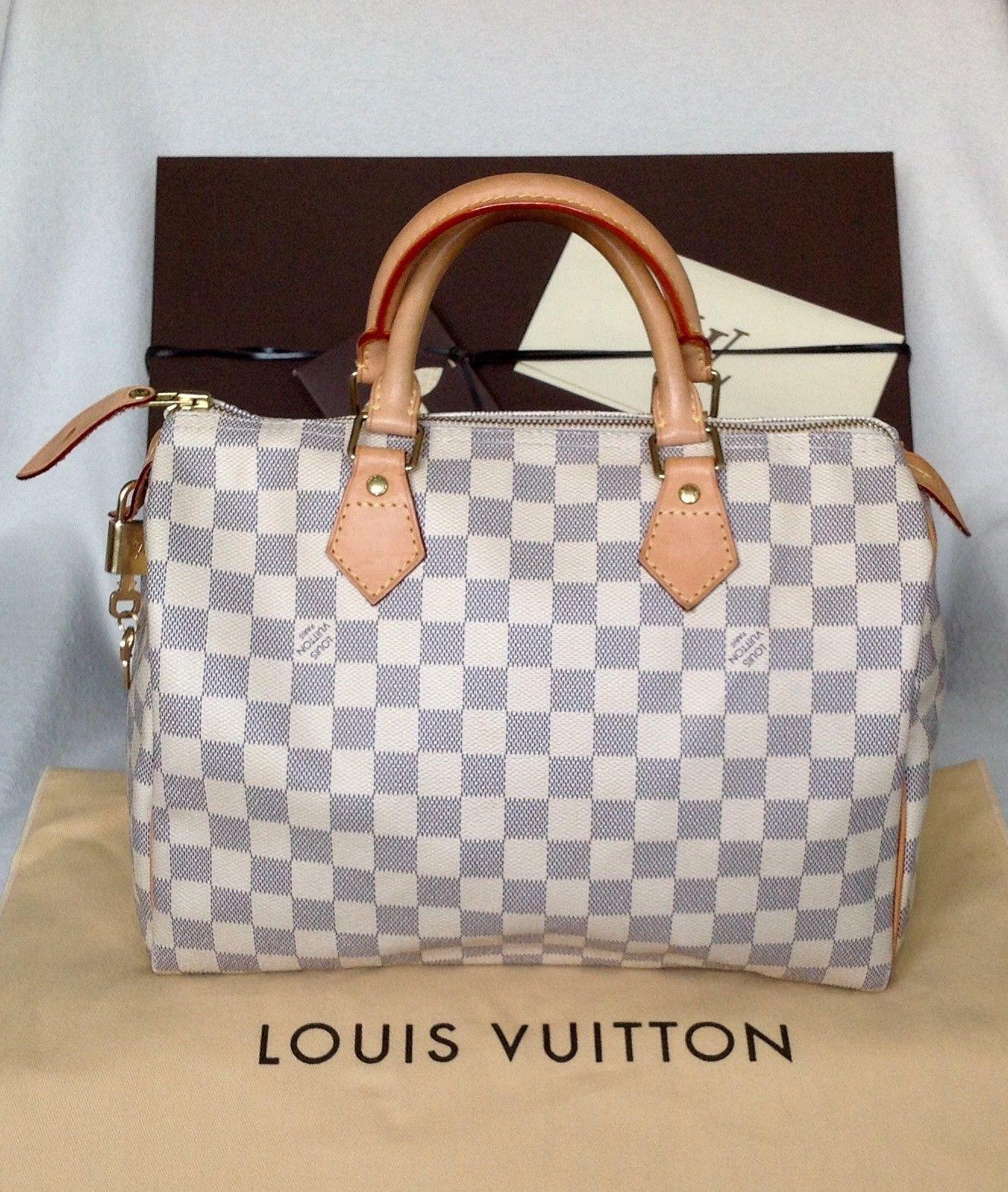 bd06e2bdcad AUTHENTIC LOUIS VUITTON SPEEDY 30 DAMIER AZUR DUST BAG BOX COPY ...