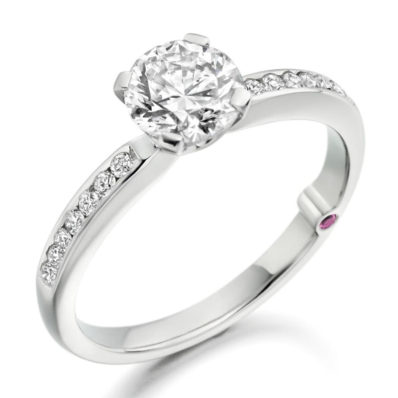 'Sophia' diamond solitaire ring by Charles Fish