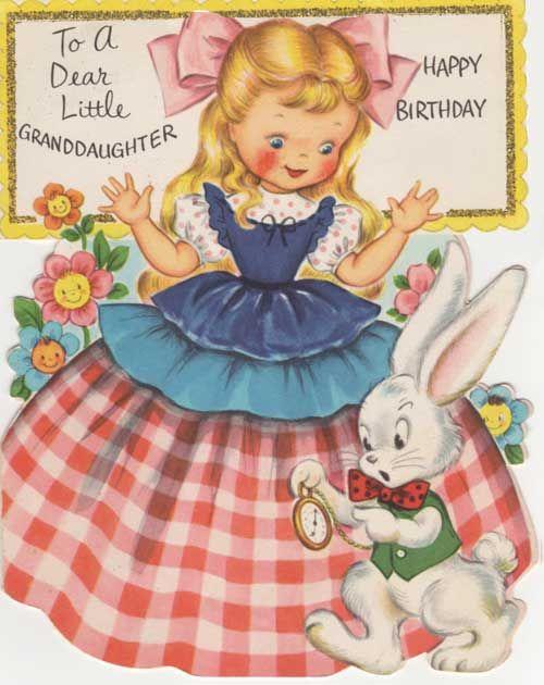Alice In Wonderland Fairfield Card Vintage Birthday Cards Alice In Wonderland Gifts Alice In Wonderland Birthday