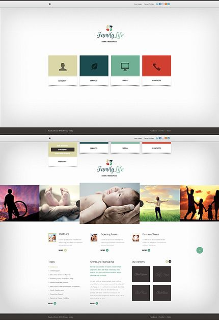 Family Center Website Template | Website, Adobe and Ui design