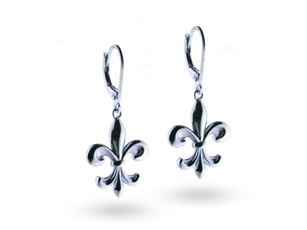 """""""Kortney"""", The Dignified Earrings White Gold"""
