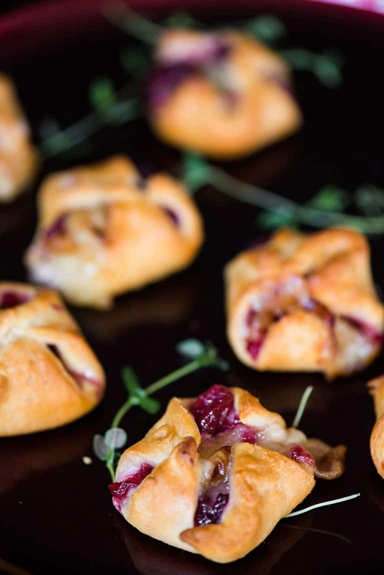 Cranberry Brie Bites are an easy three ingredient