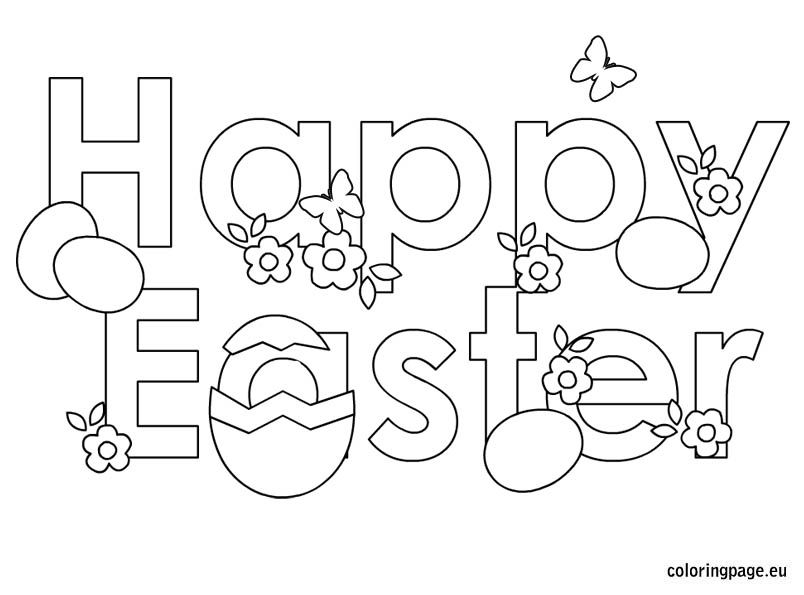 happy-easter-2 | Easter. Spring | Easter coloring pages ...