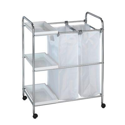 Wenko Arona Laundry Cart In Chrome Laundry Cart Laundry