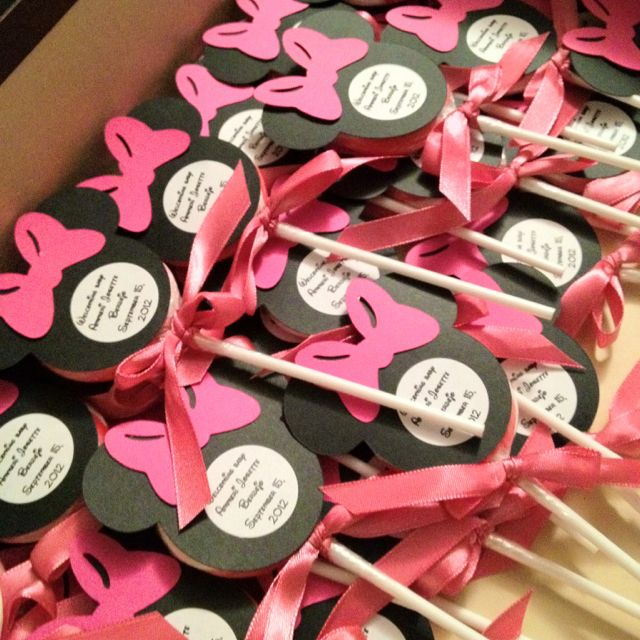 Minnie Mouse Baby Shower Party Favors: Minnie Mouse Baby Showed Favors