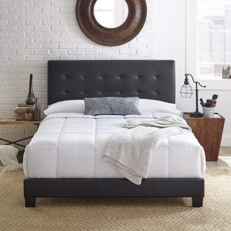 Premier Zurich Ii Upholstered Tufted Faux Leather Platform Bed