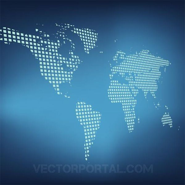 Grid world map on blue background httpwelovesologrid world map illustration with grid lines on a gradient blue background vector eps and ai formats gumiabroncs Image collections