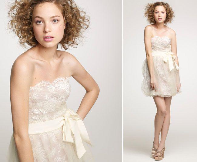 J Crew Fall 2010 Wedding Dresses Love This Short Dress