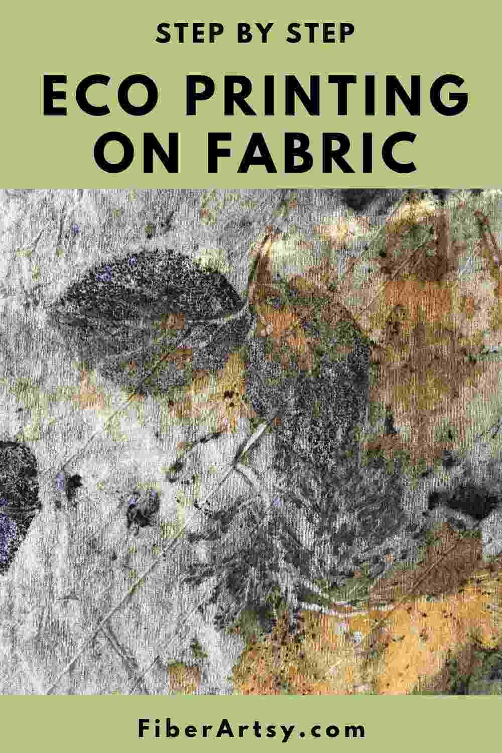 Eco Printing On Fabric For Beginners Printing On Fabric How To