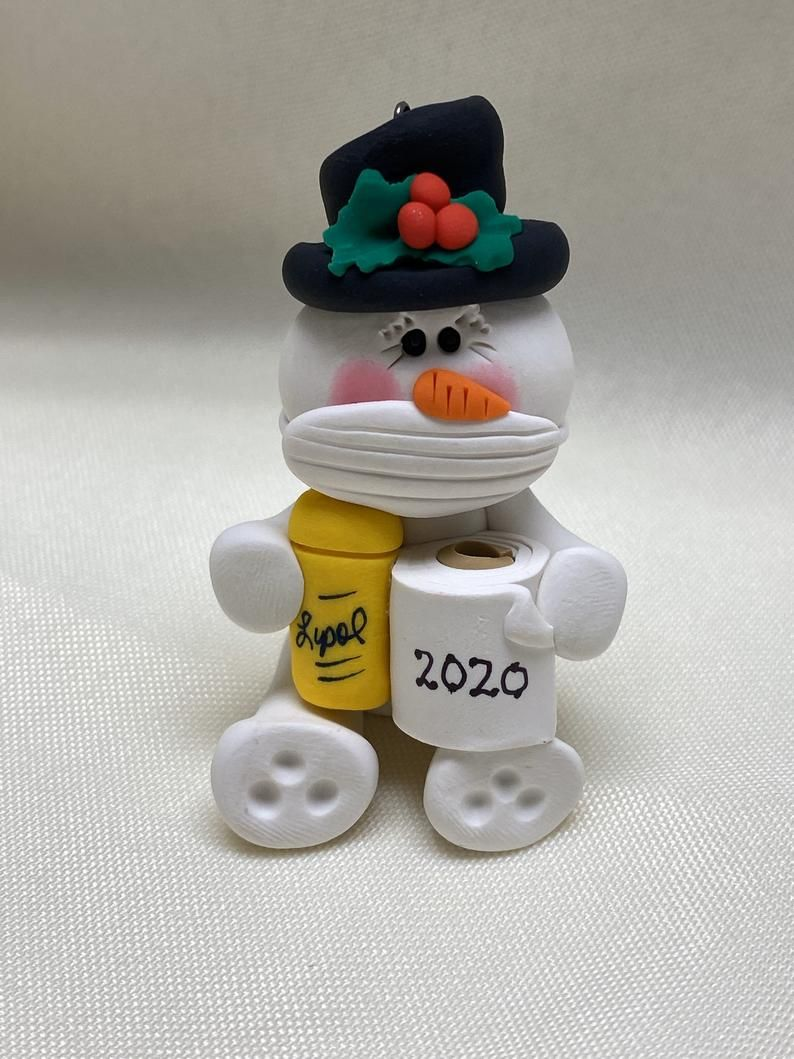 Snowman with mask and toilet paper in 2020 Diy christmas