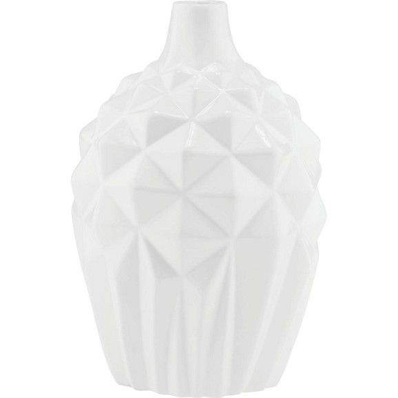 Dekorative Vase aus Keramik - in Weiß und Grau erhältlich