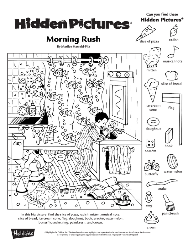 free printable hidden picture worksheets