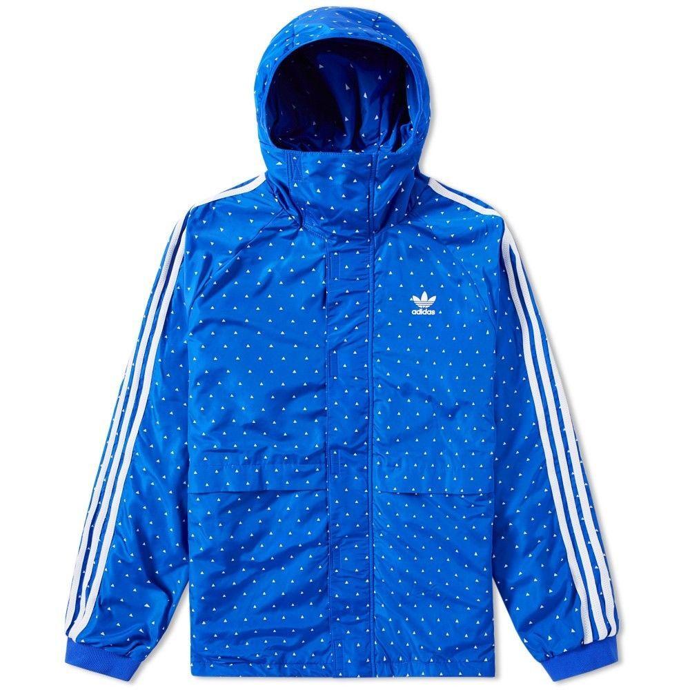 adc7d386b604c RARE Adidas Originals x Pharrell Williams Hu Sherpa Blue Windbreaker Jacket  sz L