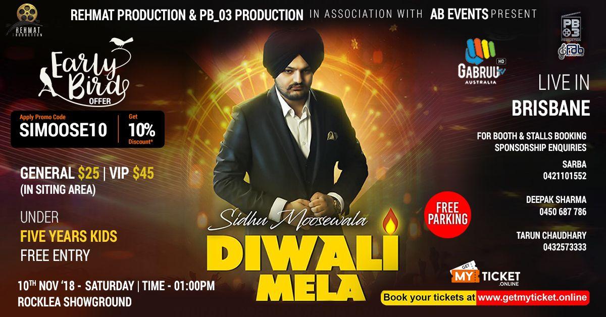 Sidhu Moose Wala is coming to Brisbane for Diwali Mela