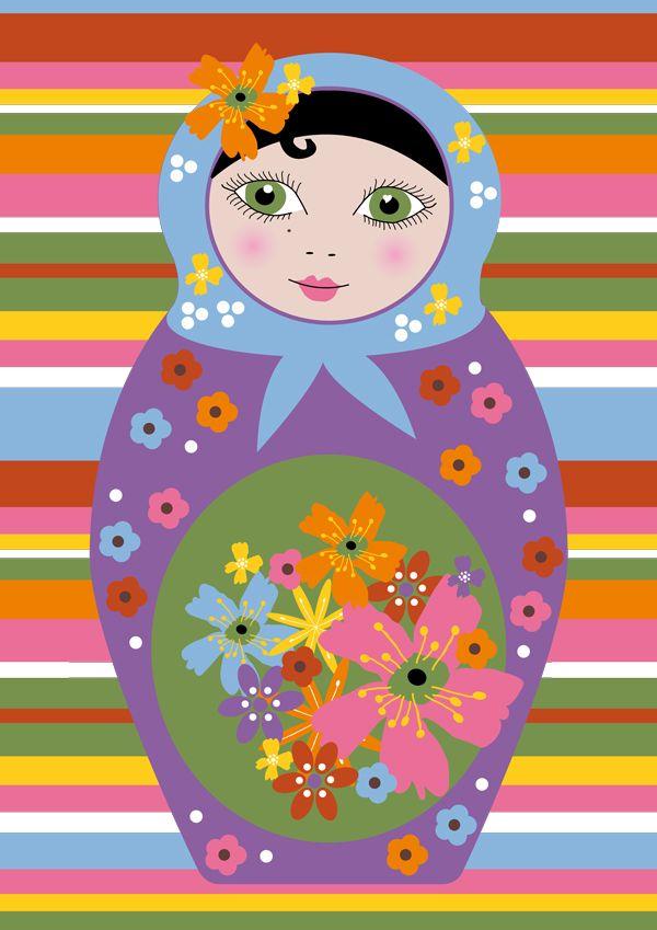 cute print of matryoshka doll