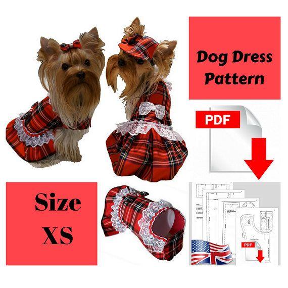 Dog Clothes Dress Pdf For Small Dog Pattern Dog Dresses Pdf